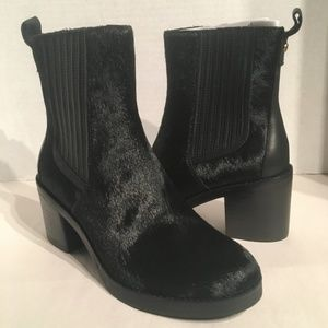 UGG Camden Exotic Cow Hair Block Ankle Heel